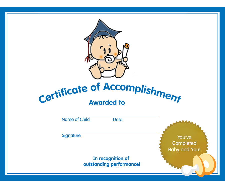Baby and You Graduation Certificate