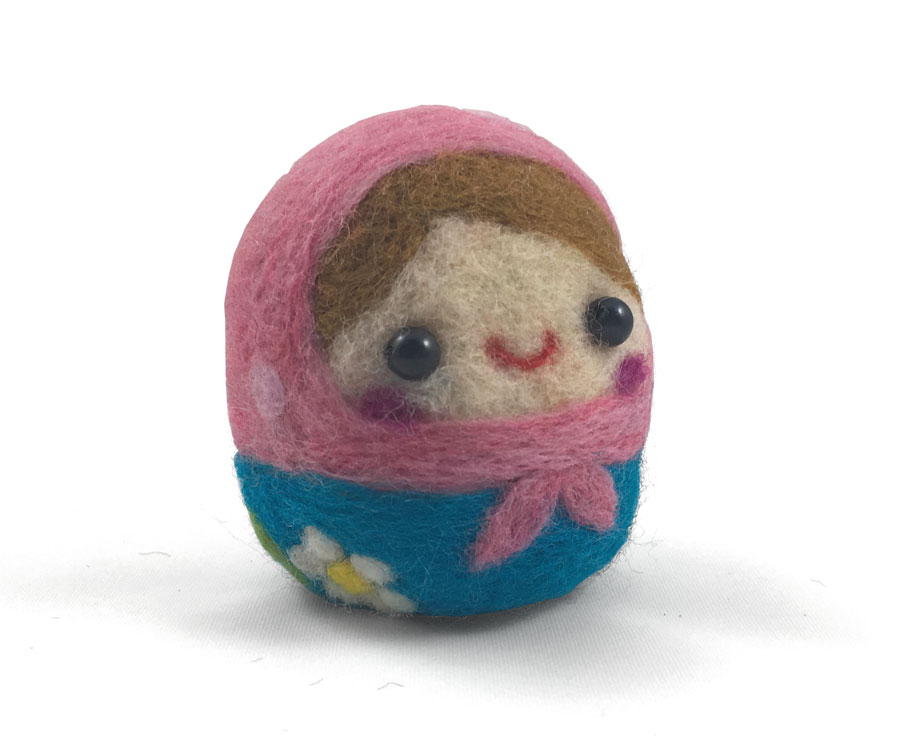Needle Felted Matryoshka Doll