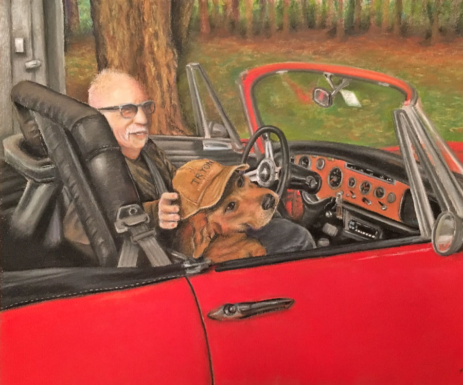 Man and His Dog Portrait Commission